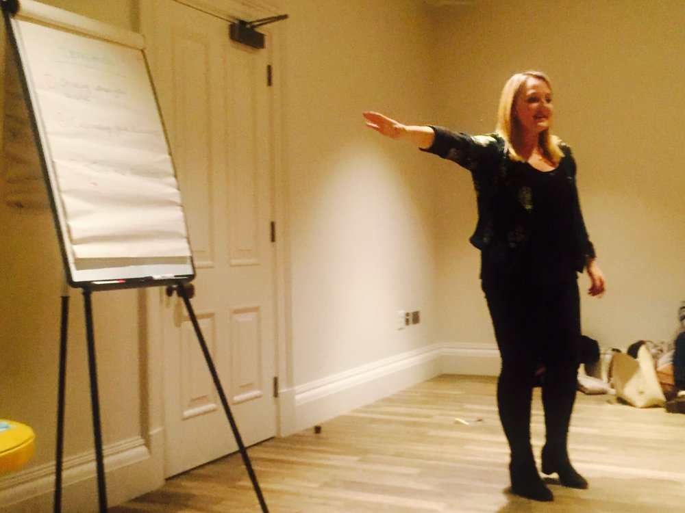 sinead speaking at one of her sold out seminars