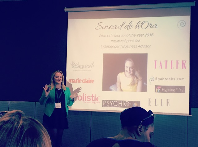 SINEAD SPEAKING IN THE EXCEL LONDON AT PROFESSIONAL BEAUTY SHOW