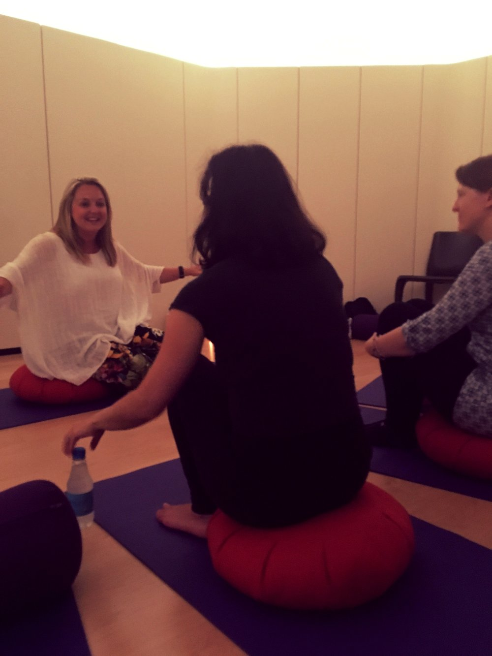 Sinead hosting one of her group intuitive guidance sessions in Akasha Holistic Wellbeing Centre