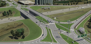Diverging Diamonds Interchange