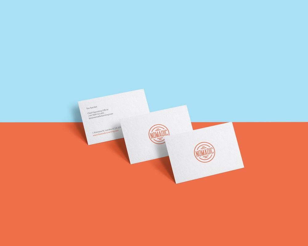 Nomadic stationary and brochure design