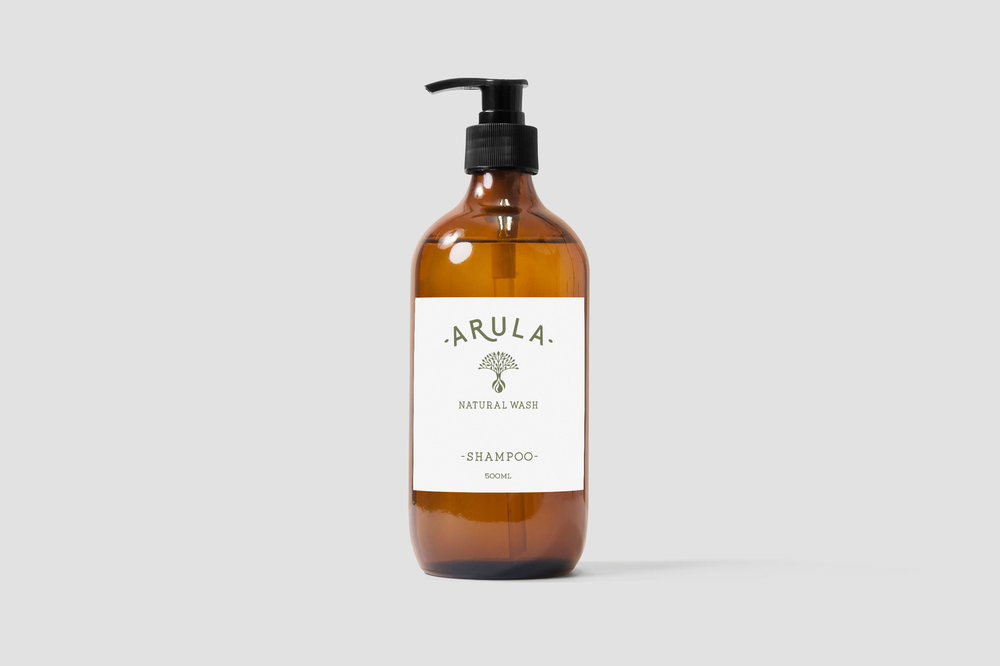 Arula natural skin care branding and packaging design