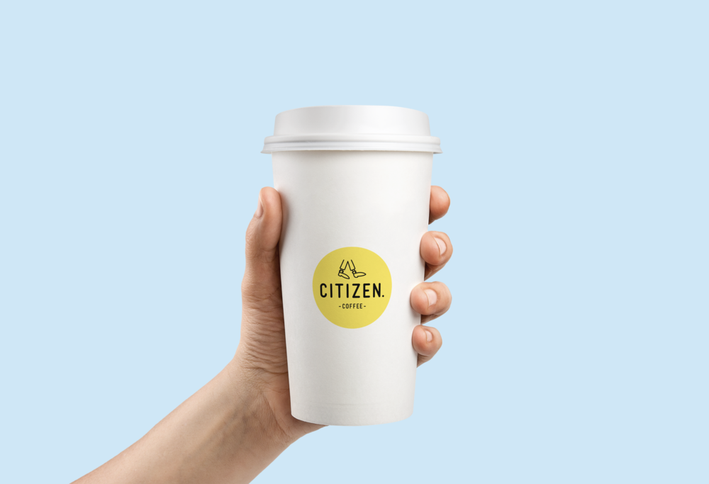 citizen coffee logo design, illustration and branding