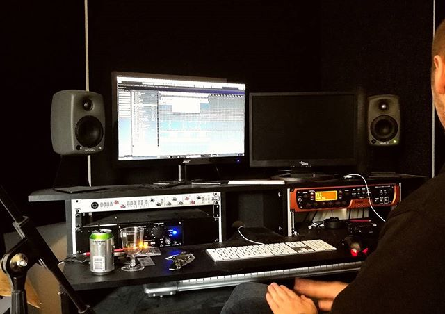 Been writing about a million songs now, and it's time to make then sound good! Mixing today so we can hear what we have done in the prepro! \m/ #nighon #demo #prepro #metal #music #genelec #ssl #cubase #studio #mixing #mastering #battery #yolo