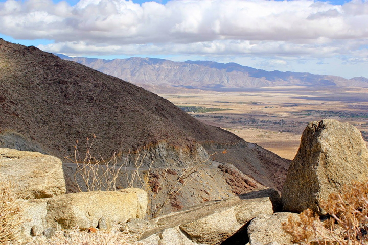 Montezuma grade and Borrego below.....Photo by Ken Mathis
