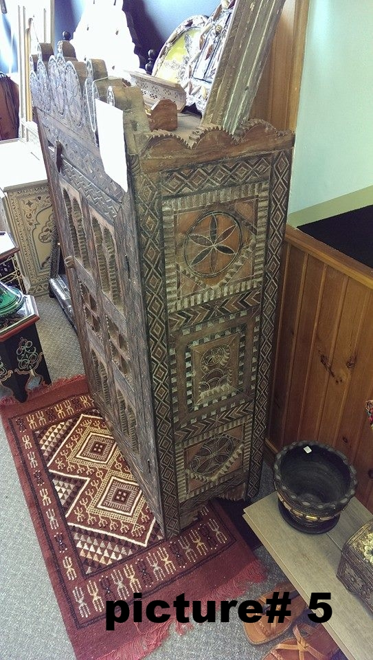 150 years old antique pantry .hand crafted in morocco .