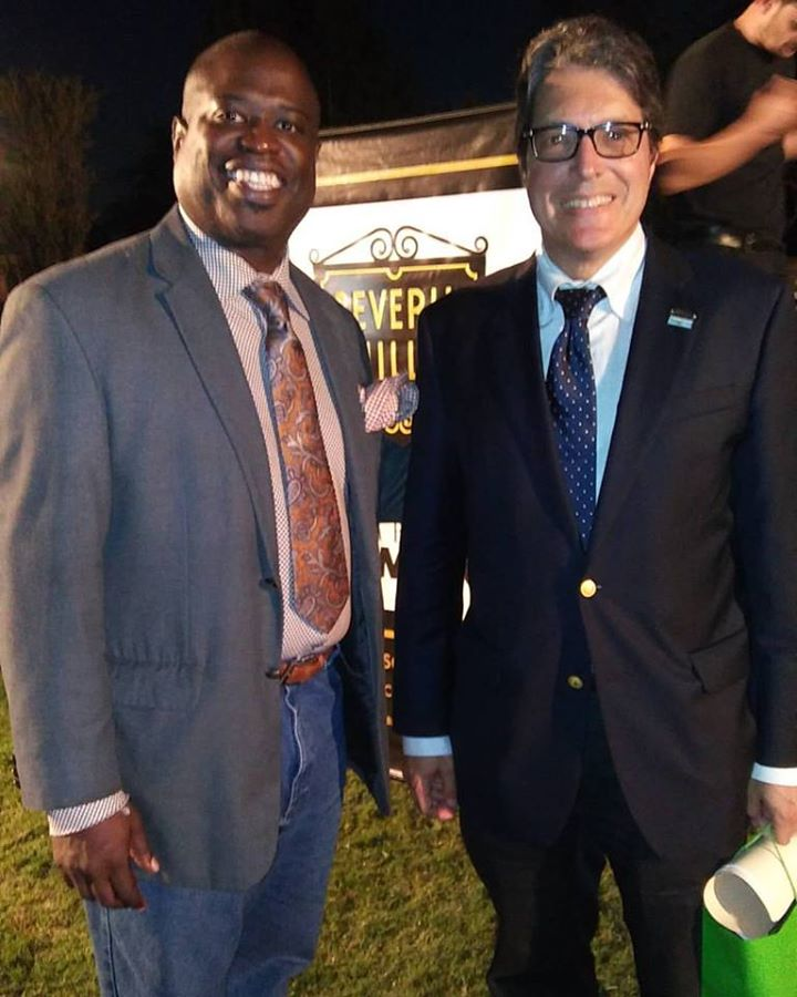 Lucian and Mayor John A. Mirisch