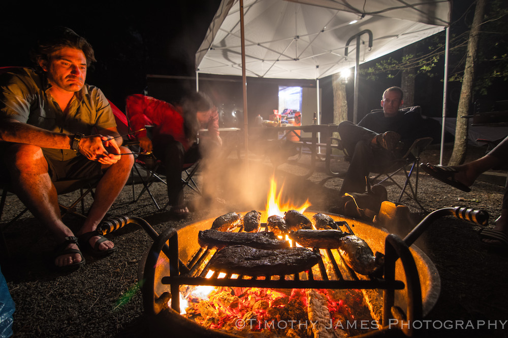 We won't look this legit but we'll be cooking over an open fire for days on end. Bring your favorite craft beer or spirit and let's have a good time. Photo: Timothy James Photography