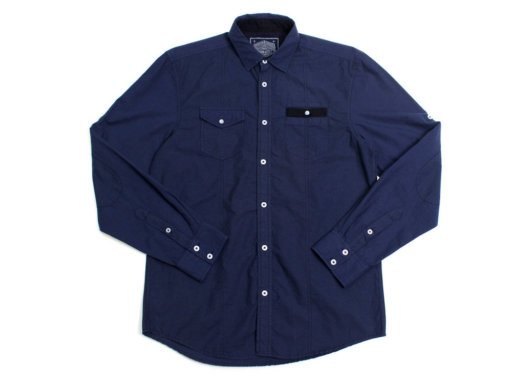 Turner LS Button Up - Navy