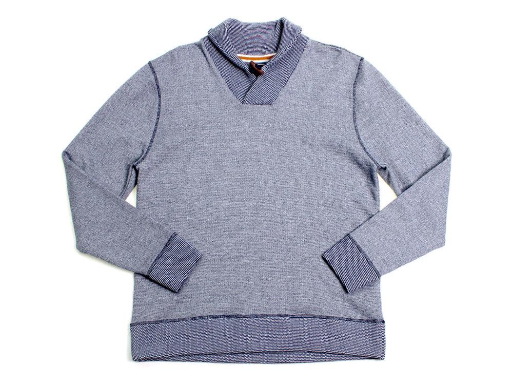 Ruskin Shawl Collar Pullover - Navy