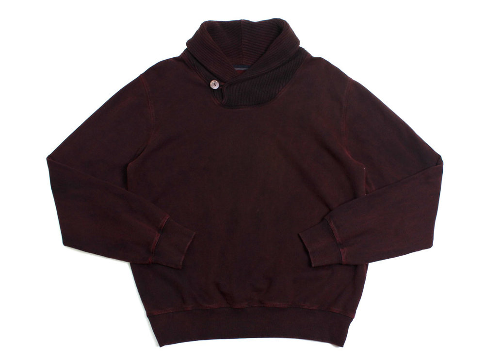 Stoker Shawl Collar Pullover - Dark Red