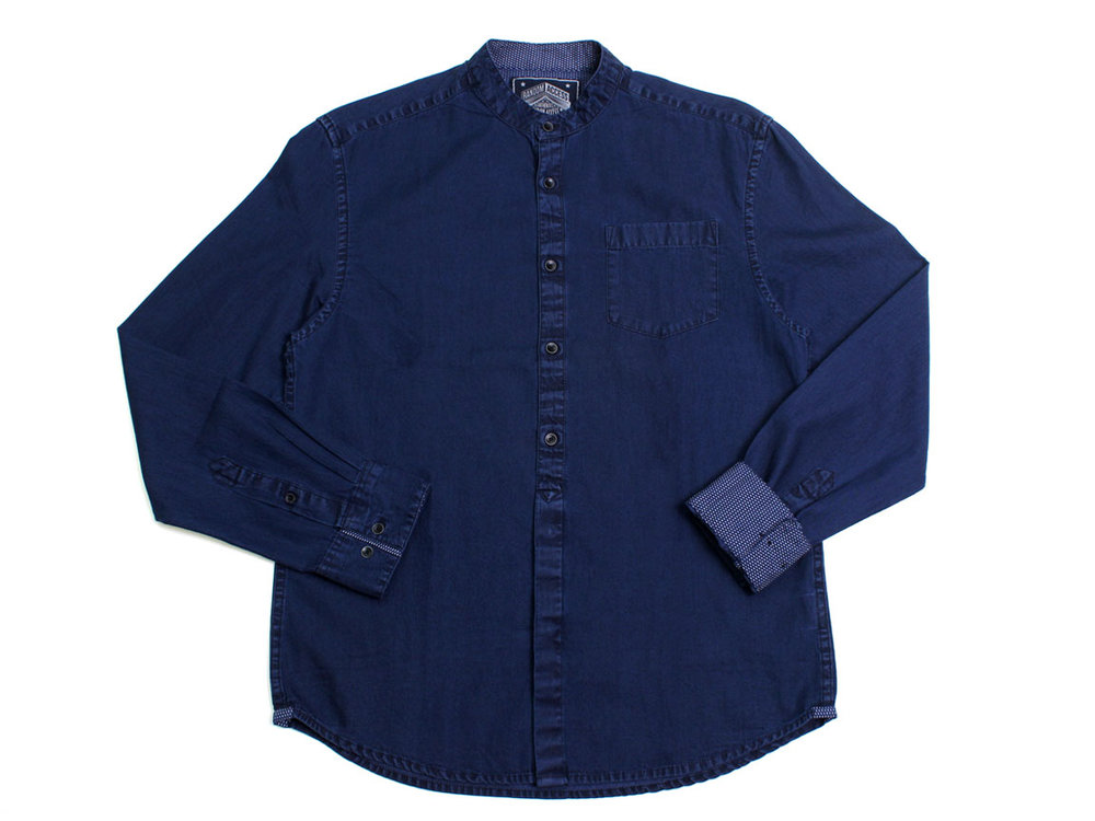 Dickens LS Button Up - Navy
