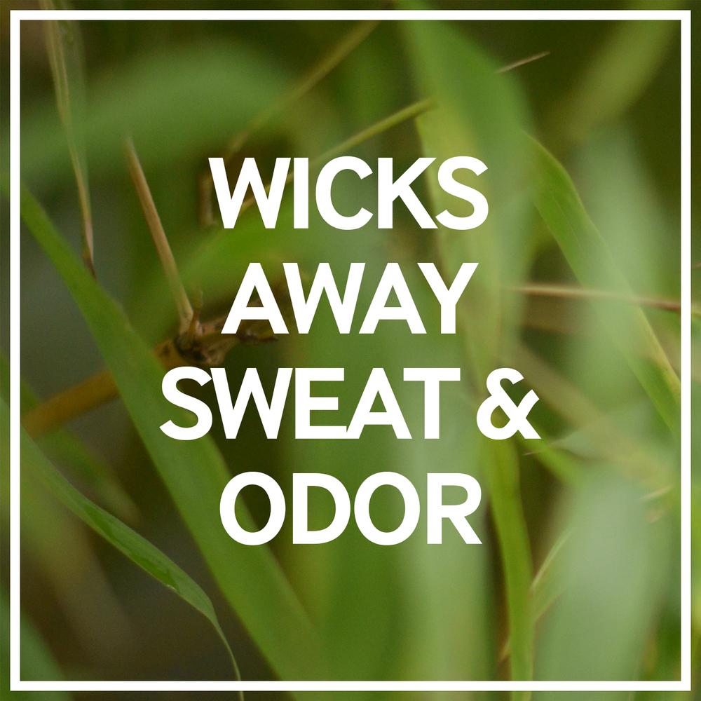 Bamboo fiber wicks away sweat and odor