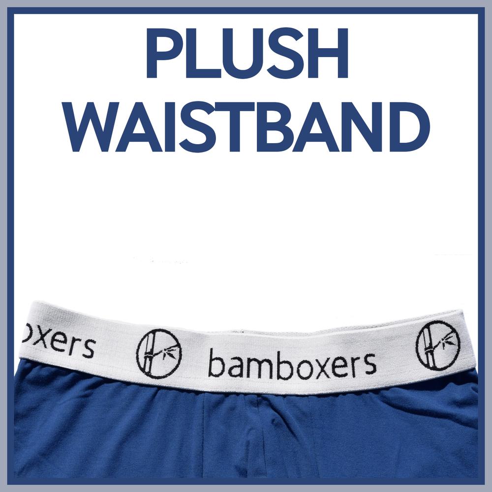 Comfortable boxers, plush waistband