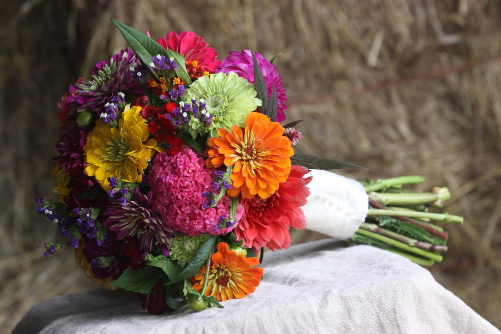 bouquet bridal  zinnias.JPG