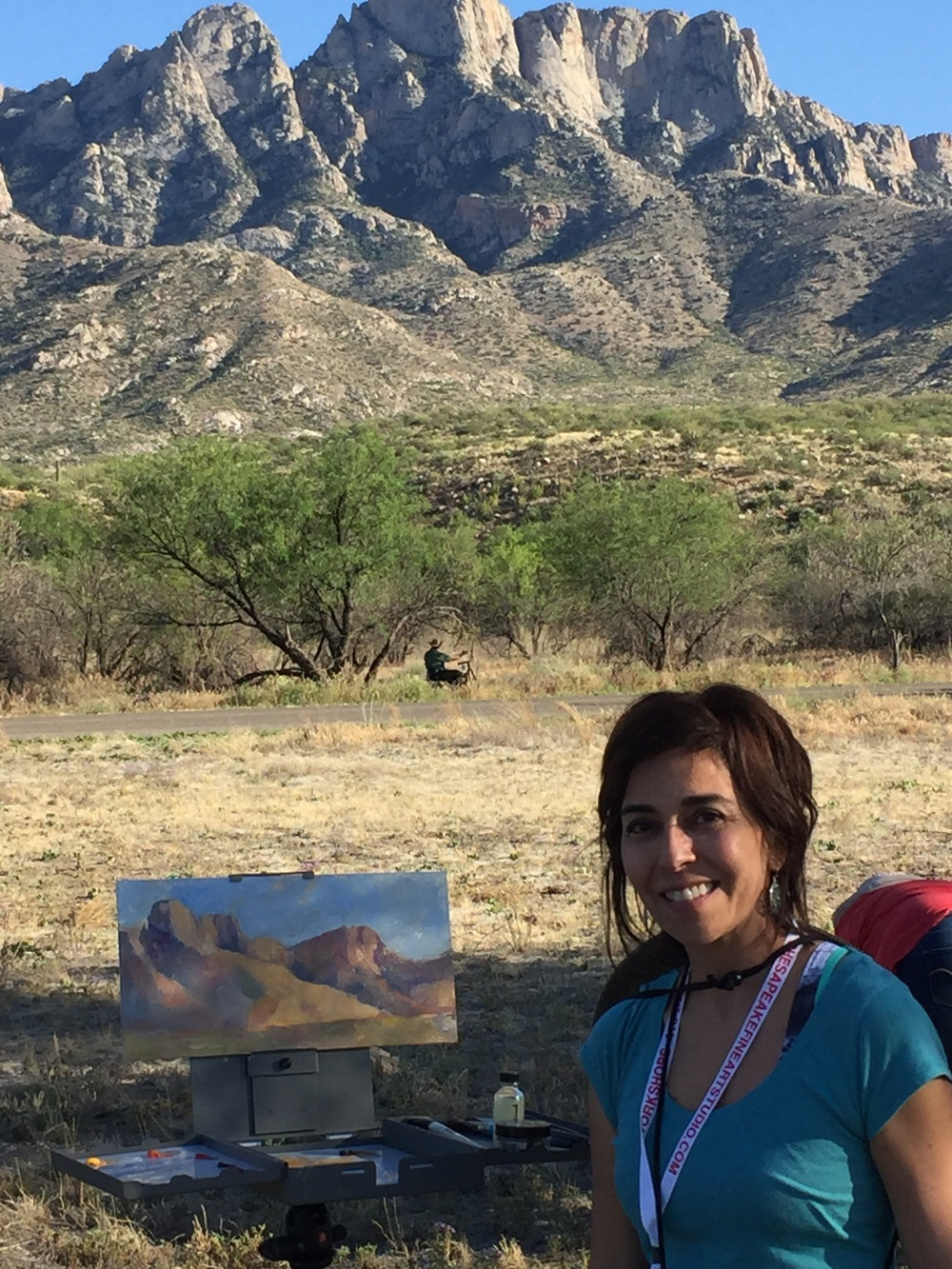 Painting by the Mountains