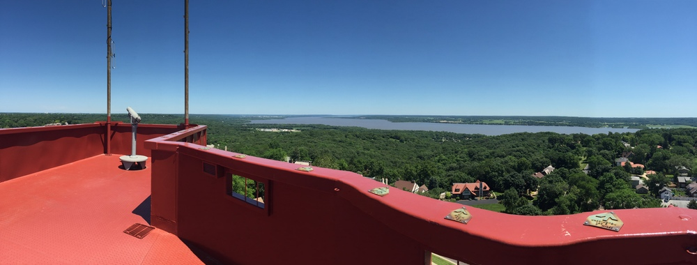 Peoria Heights and the river from the top of the observation tower in Tower Hill Park. The point of our camp is not only digital literacy, but more importantly, building community pride. To do that, you have to have multiple perspectives, some from 200 feet up.