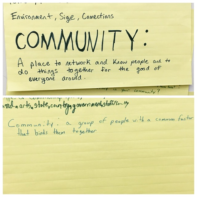 Community definitions