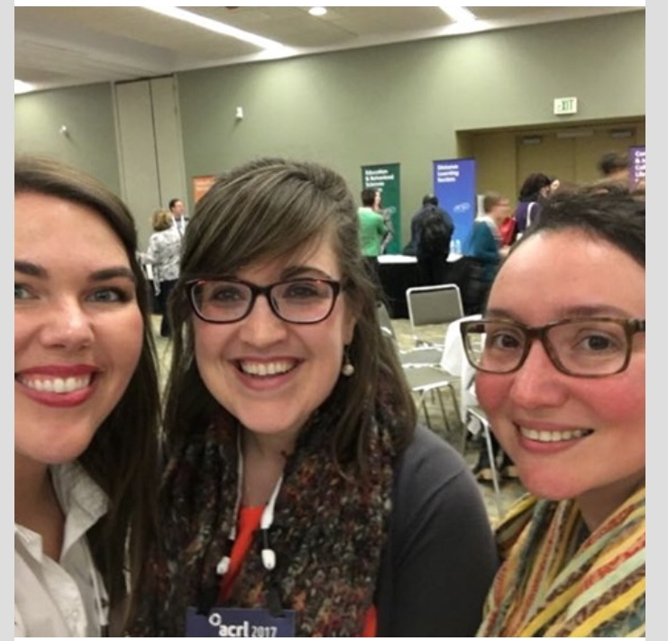 At the ACRL Engagement Fair. From L to R: Holly, myself, and Kristina