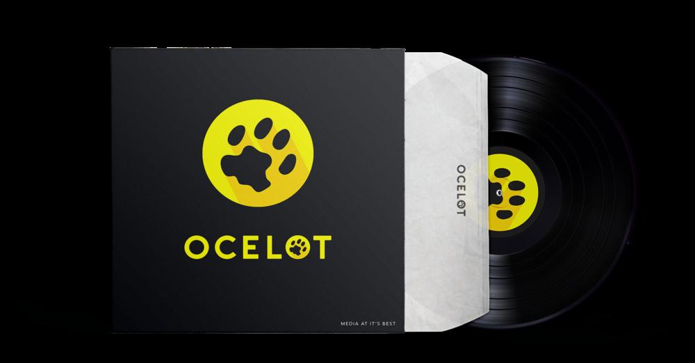 ocelot media company branding logo design vinyl record
