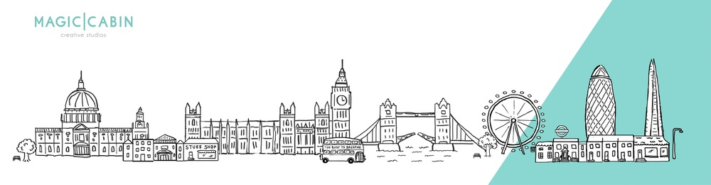London Slyline illustration for Mindfulness coach Lyn O'Donnell