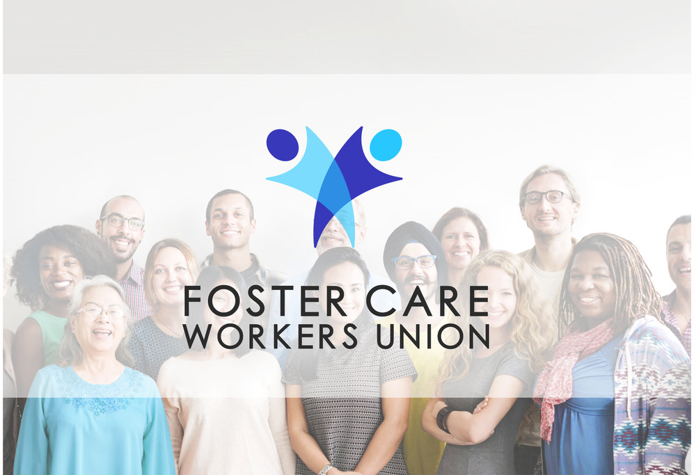 foster care workers union branding