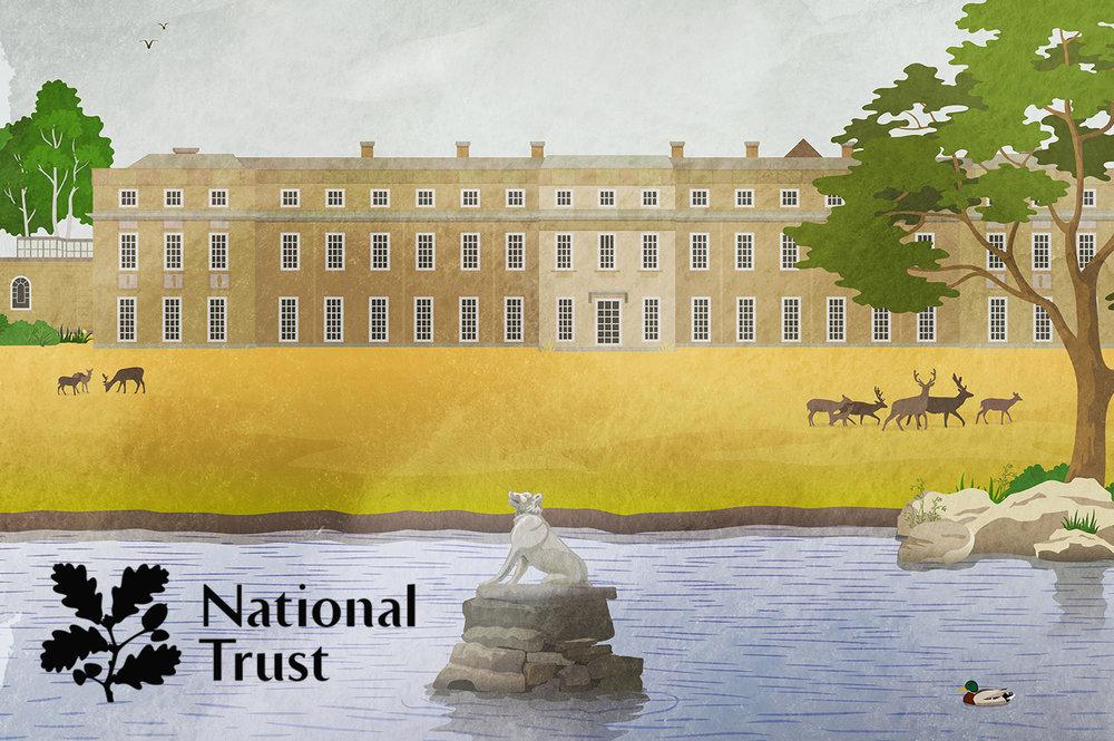 national trust petworth house logo vector art illustration thumbnail