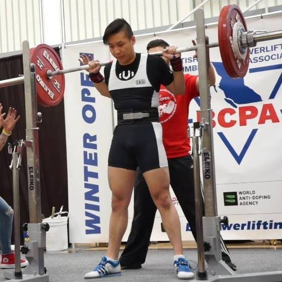 Mark Xu is a 74kg Junior BCPA Powerlifter