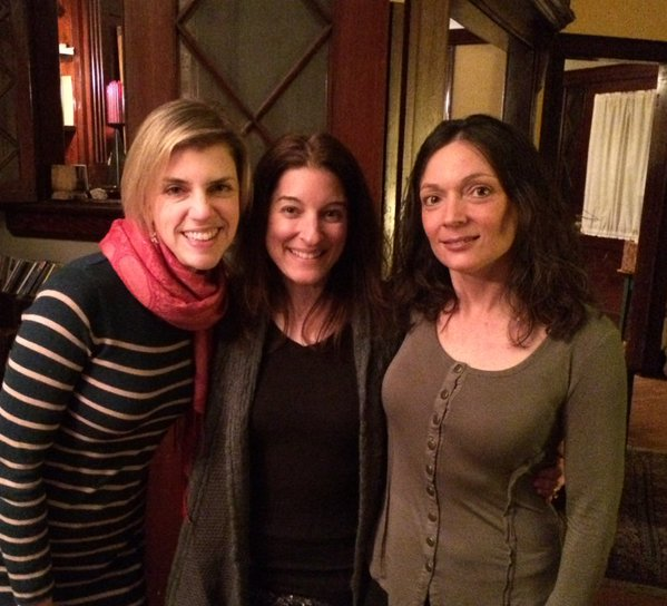 Lauree Ostrofsky, Robin Flanigan & me at #RochesterLitParty2016