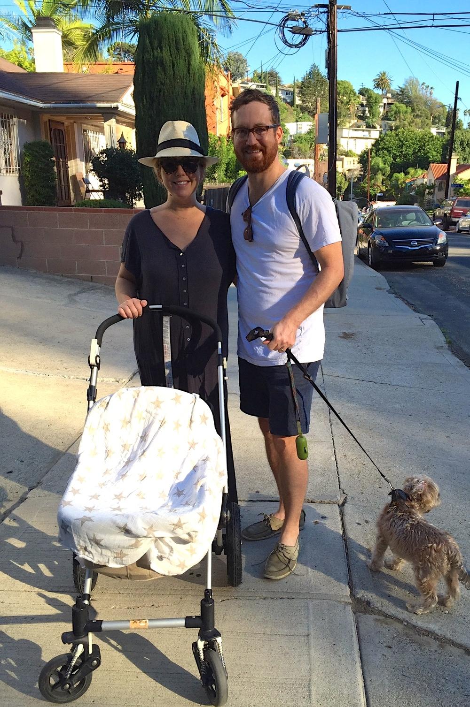 First family walk around the neighborhood!