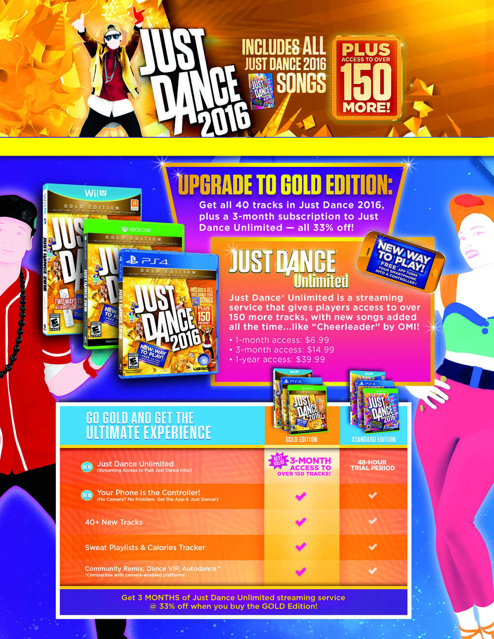 Just Dance 2016 Info Sheet