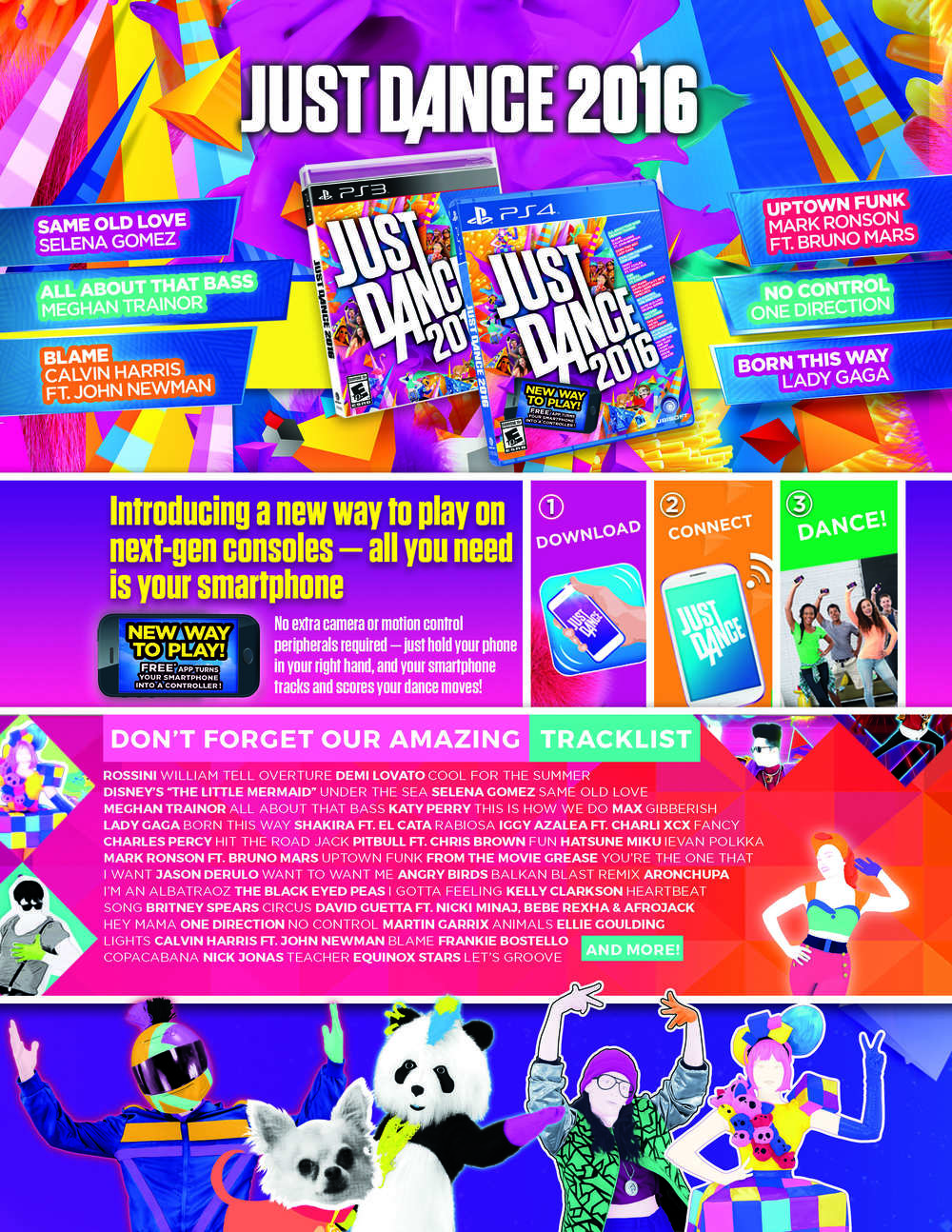 Just Dance 2016 Infosheet
