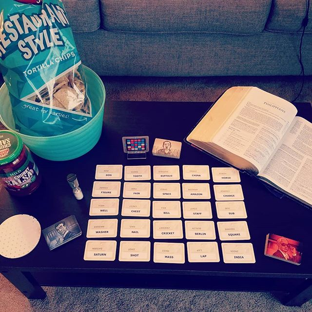 Snacks, games, and Bible are all in place. Hope everyone can make it tonight for high school bible study! 6:30 to 8:00 pm at our apartment.