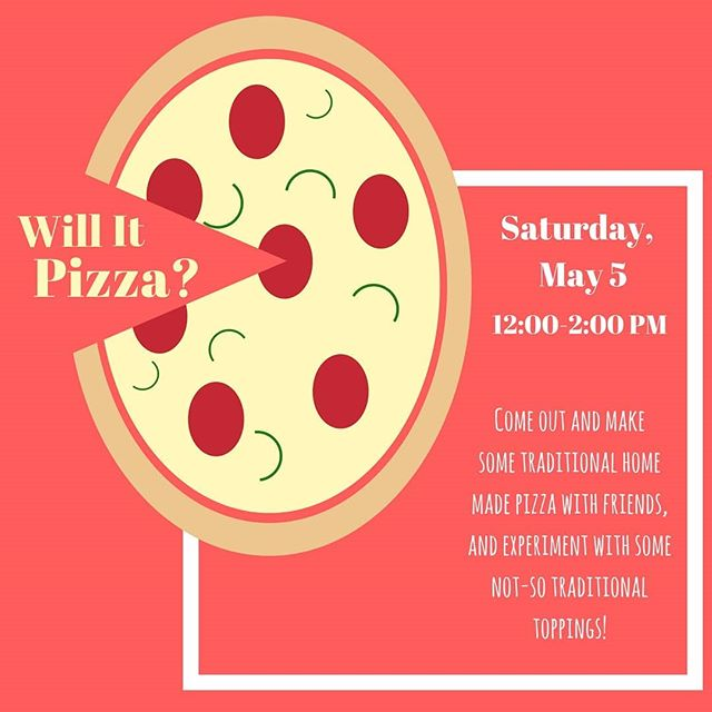 Macatoni and cheese: Will it pizza? Find out all this and more tomorrow at 12! (Don't worry, you can make your own. we'll have normal topping too!)