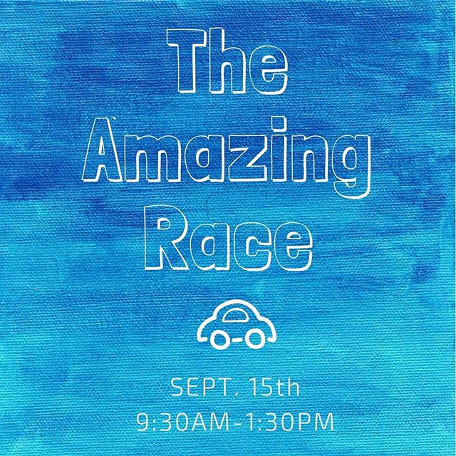 The amazing race is almost here! Recruit a team and be here on saturday the 15th to compete! (and remember, the first ones to bring in permission slips and their $5 can get a little bonus boost for their team too! ) We're getting excited! see you then!