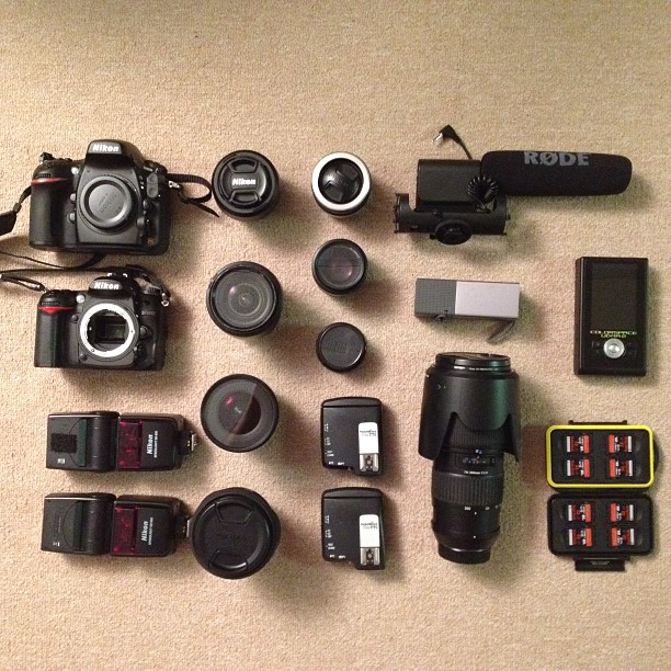 The African photo adventure starter kit for 2 shooters. Here's hoping. #nikon #tamron #sigma