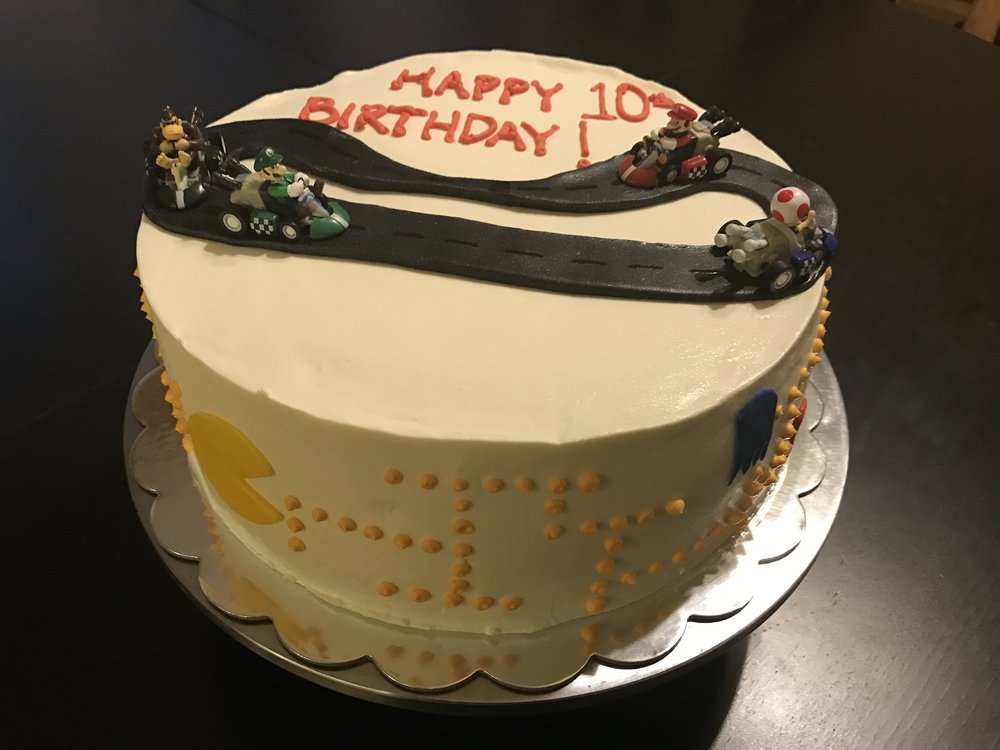 Video Game Theme Birthday Cake