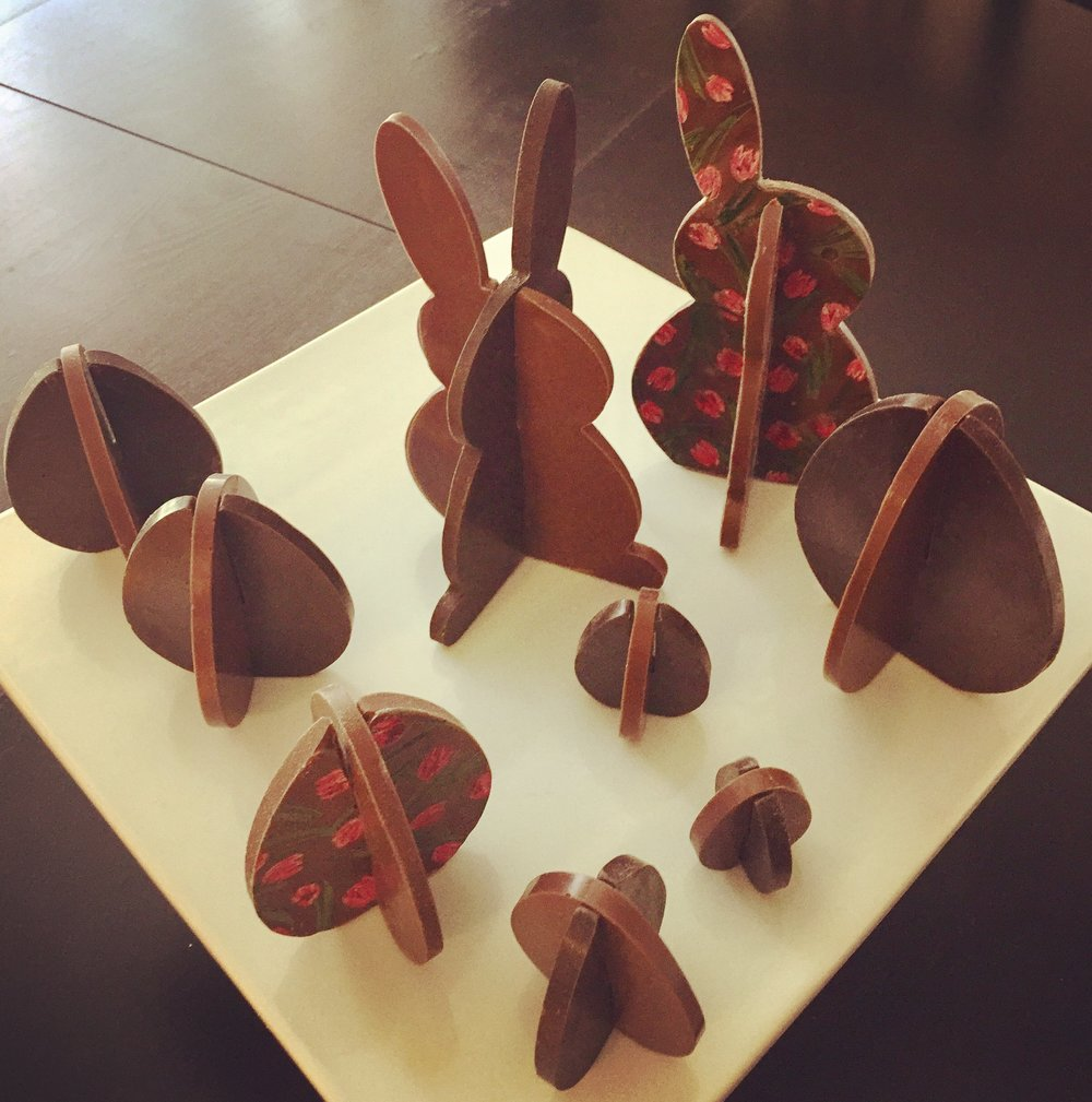 3D Chocolate Bunnies