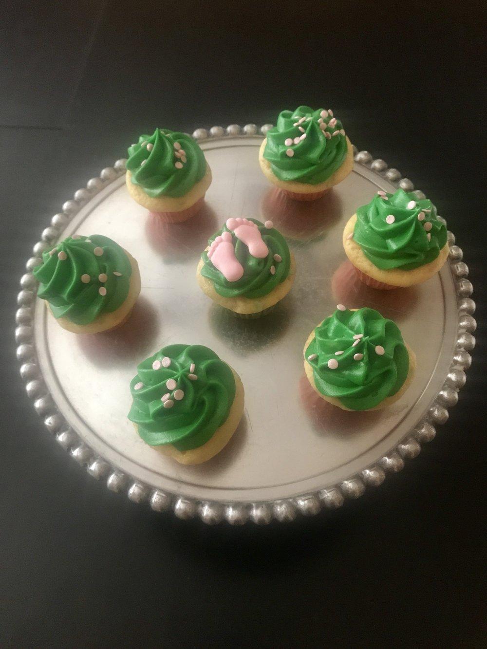 Irish Baby Shower Cupcakes