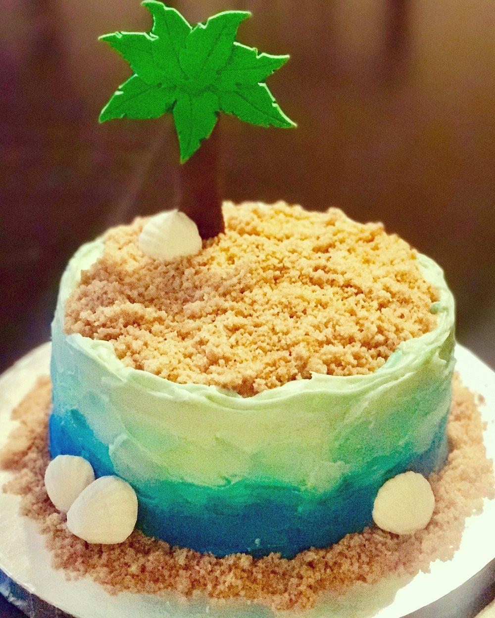 """Life's a Beach"" Cake"