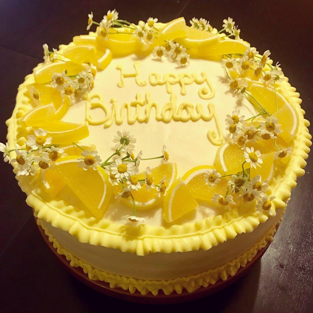 Lemon Birthday Cake