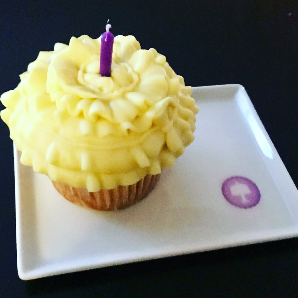 Lemon Ruffle Cupcake