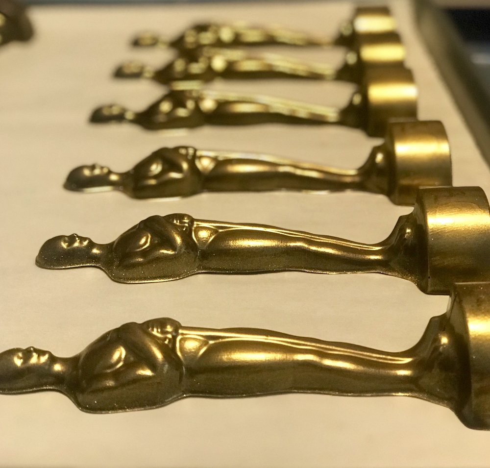 Gold Chocolate Oscar Statues