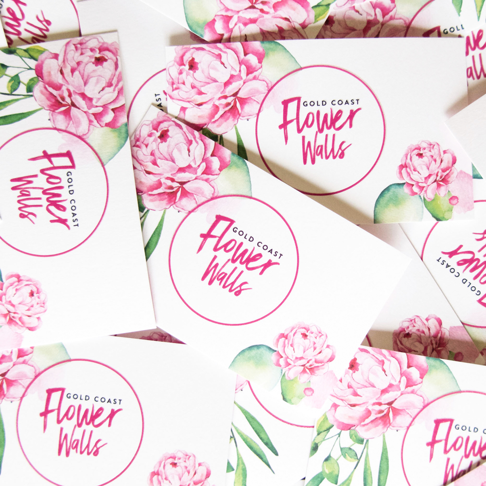 Gold Coast Flower Walls Logo and Branding Project