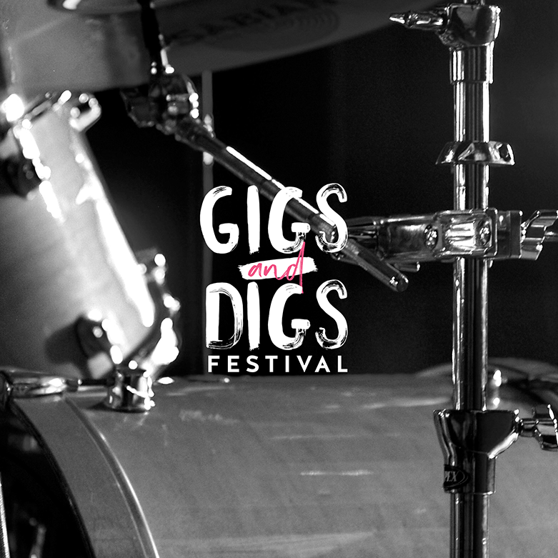 Gigs and Digs Festival Logo and Branding Project