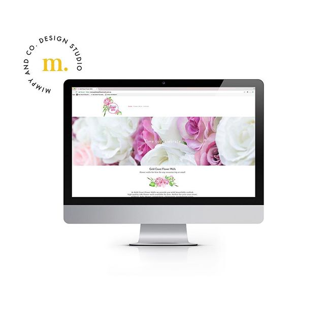 Victory dance 💃🏽 @goldcoastflowerwalls website is up and running ya'll! It's been amazing working with Shelley on designing her overall branding and her spankin new website. . Gold Coast Flower Walls offer beautiful flower backdrops for all types of events. Check out their website for the deets 💛 . . #website #design #creative #branding #goldcoast #flowers #flowerwalls #love #eventhire #blogger #style #instagood #logo #womeninbusiness #freelance #fresh #websitedesign #studio #collaborate #work #girlboss #inspo #picoftheday #desktop #backdrop #hire #designservices