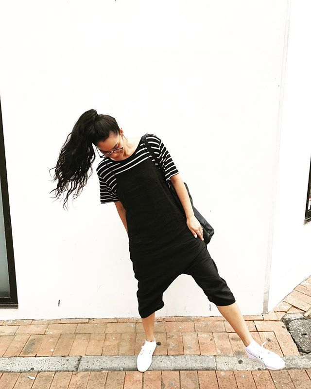 Monochrome vibes always 🐼💛 . . #design #darlinghurst #sydney #monochrome #blackandwhite #fashion #jumpsuit #stagni #style #blogger #freelance #business #womeninbusiness #dream #work #weekend #love #stripes #girlboss #inspo #designinspo #creative #studio #fresh #print
