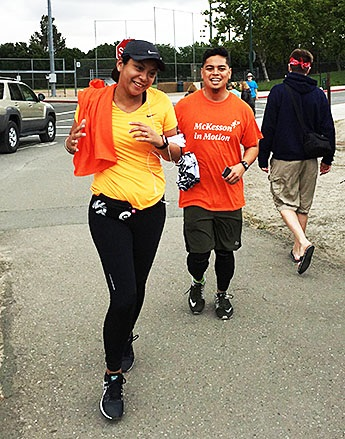 "McKesson employees participating ""McKesson in Motion""."