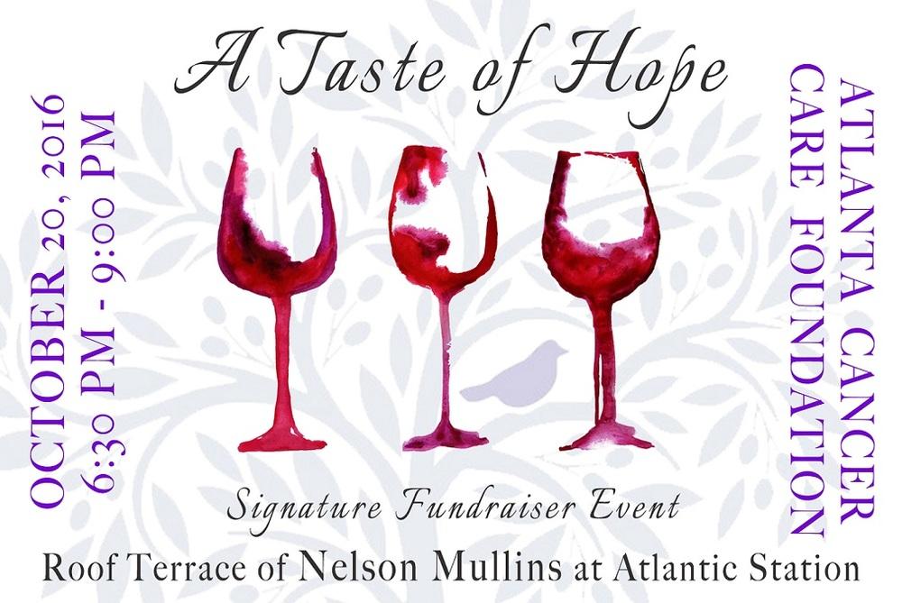 2016 Taste of Hope   Thursday, October 20, 6:30-9:00 p.m.