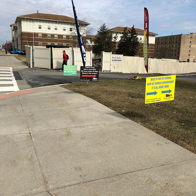 Come check out our new signs and sign your lease while you are here! We want you to be part of the Pratt Studios family! Call/text 724-349-2007 to take a tour or just stop in. Great location next to KCAC! Off campus!! All utilities included! Starting @$2,495/sem.